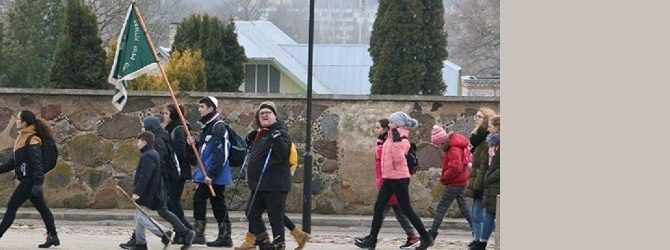 Зимний поход еврейских скаутов