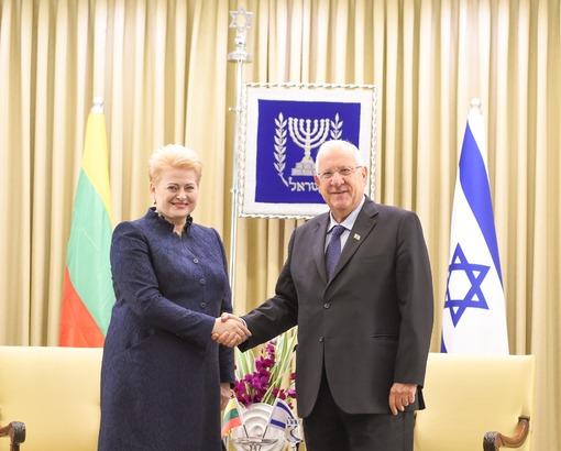 """Prezidentė Izraelyje sieks įtvirtinti """"geriausius istorijoje santykius"""""""