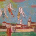 R.Savickas. Angelai virš miesto.  2009-15. Pop.,past. 65x50