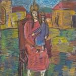 R.Savickas. Karalienė ir karalaitė.  2011-15. Pop.,past. 65x50