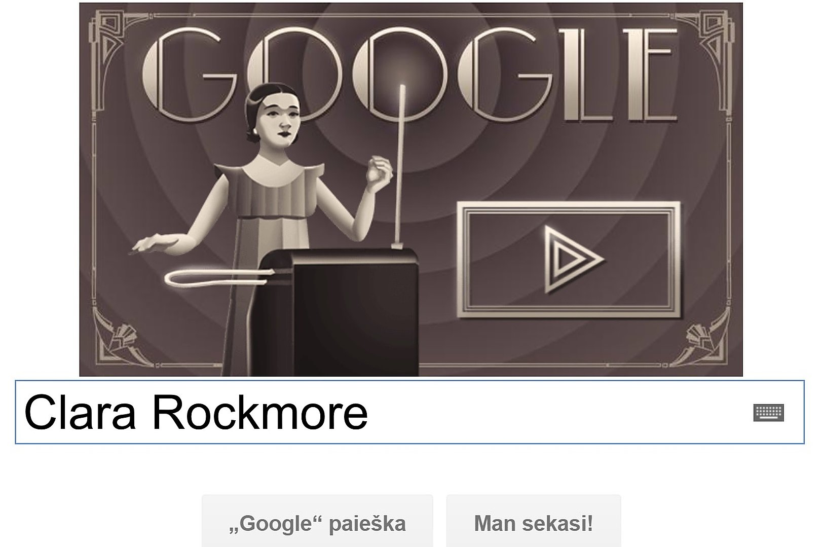 """""""Google"""" visame pasaulyje pagerbė litvakę teremino virtuozę"""