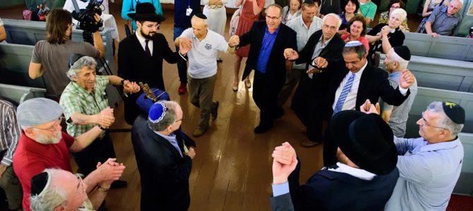 Toros įnešimo šventė Vilniaus choralinėje sinagogoje vyko birželio 27d.