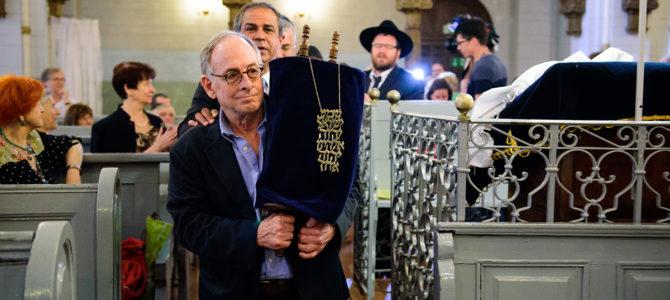Juda Passow dėkoja LŽB ir pirmininkei F.Kukliansky už Toros sugrįžimo šventę