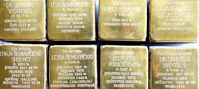 """""""Atminimo akmenų"""" renginiai Lietuvoje"""