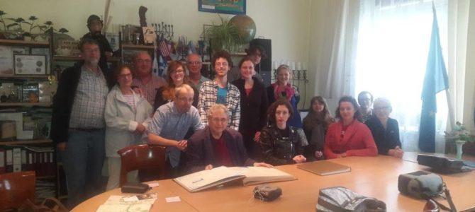 Vilniaus jidiš instituto vasaros programos dalyviai lankosi Panevėžio žydų bendruomenėje