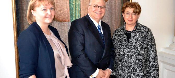 Susitikimas su Amerikos Hebrajų akademijos vadovu Glenn A. Drew