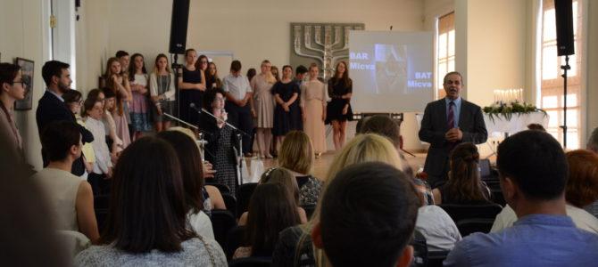 Šolomo Aleichemo ORT gimnazija surengė kasmetinę Barmicvos ceremoniją Choralinėje sinagogoje ir Lietuvos žydų bendruomenėje