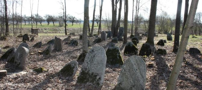 Panevėžio  žydų bendruomenės nariai lanko apskrities žydų kapines