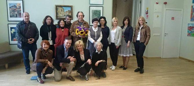 LŽB atidaryta bendruomenės  narių tapybos darbų paroda su Raimondu Savicku