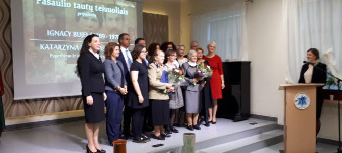 Izraelio Valstybės Parlamento Pirmininkas Vilniuje apdovanojo Pasaulio Tautų Teisuolių šeimą