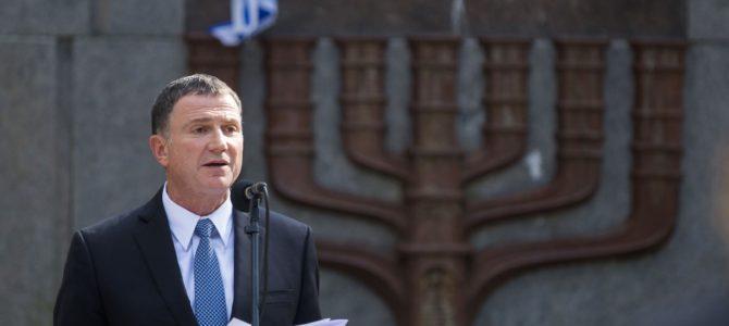 Izraelio parlamento vadovas ragina Lietuvą labiau pasirūpinti žydų kultūros ir istorijos atminimu