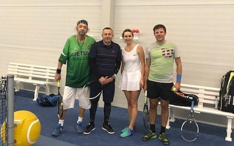 """Apie Lietuvos sporto klubo """"Makabi"""" dvejetų teniso turnyrą."""