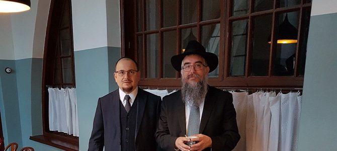 Vilniaus Choralinę Sinagogą aplankė rabinas Meir Manevich.