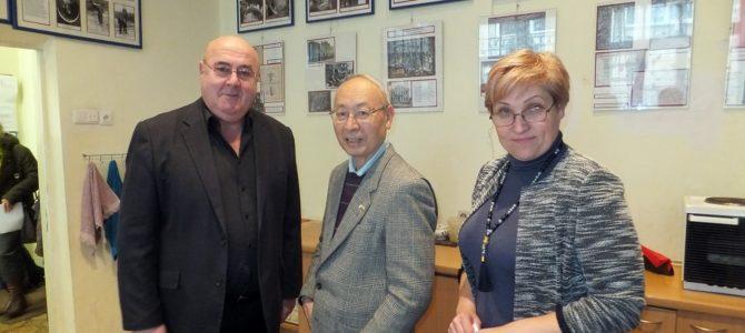 Svečio iš Japonijos Susumu Nakagawa vizitas Panevėžio miesto žydų bendruomenėje