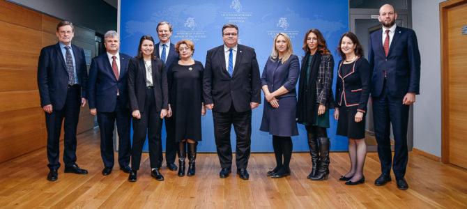 L. Linkevičius susitiko su Amerikos žydų komiteto vadovu