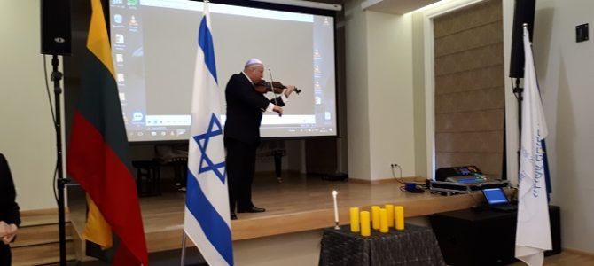 Yom Ha Shoa aukų pagerbimas Lietuvos žydų (litvakų) bendruomenėje