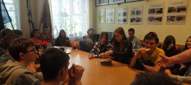 Edukacinis užsiėmimas Panevėžio žydų bendruomenėje su rajono moksleiviais