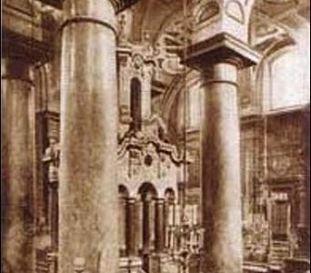 Atrasta centrinė Vilniaus didžiosios sinagogos dalis – bima