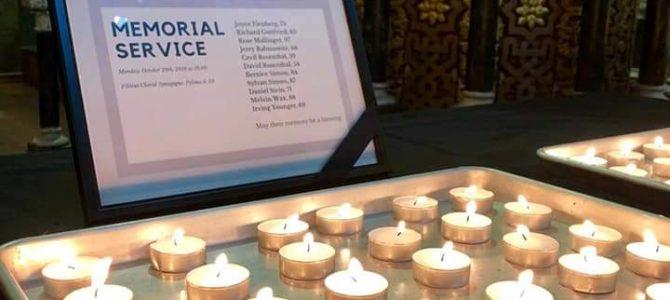 В Вильнюсской Хоральной синагоге почтили память жертв трагедии в Питтсбурге