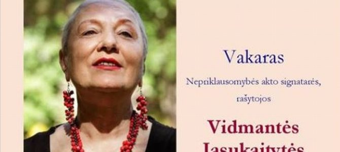 Celebrating Vidmantė Jasukaitytė's 70th Birthday