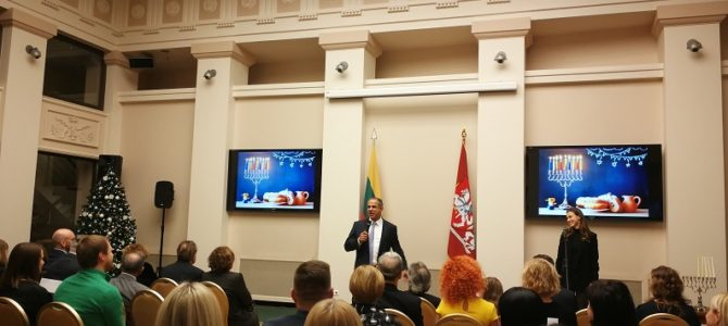 Hanukkah at the Lithuanian President's Office
