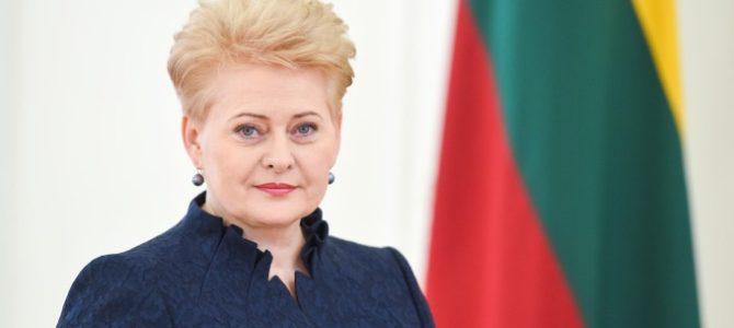 Президент Литвы Д. Грибаускайте поздравила ЕОЛ с Ханукой