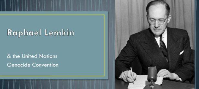 Рафаэль Лемкин – отец «Конвенции о предупреждении преступления геноцида»