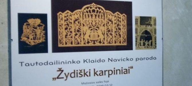 """Klaido Navicko paroda """"Žydiški karpiniai"""" Panevėžyje"""