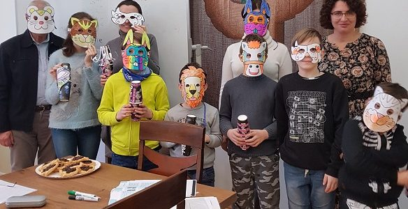 Hebrew Students Celebrate Purim with Teacher Ruth Reches