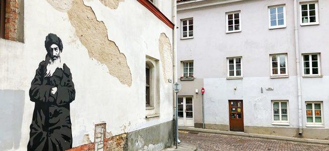 Gaono gatvėje atidengtas žydų kvartalo istoriją pasakojantis piešinys