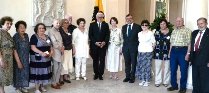 Holocaust Survivors Meet German President Steinmeier