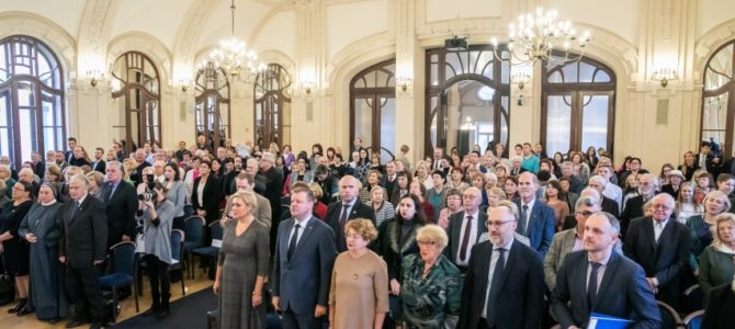 Ministro Pirmininko globojamame Tolerancijos dienos renginyje apdovanoti Miša Jakobas ir Semionas Finkelšteinas