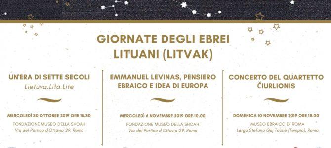 Lietuvos ambasados Italijoje organizuojamos Litvakų dienos Romoje