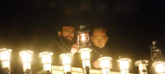 Kaunas Jewish Community Lights Public Menorah with Rabbi