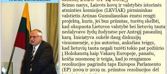 """Kas Jūs, daktare Gumuliauskai? Riebūs potėpiai Lietuvos Seimo """"Laisvės kovų ir valstybės istorinės atminties komisijos"""" pirmininko portretui"""