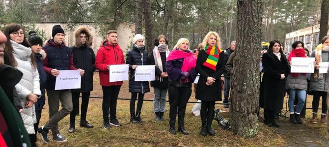 Pabradės miesto kultūros centras organizavo minėjimą, skirtą Holokausto aukų atminimui