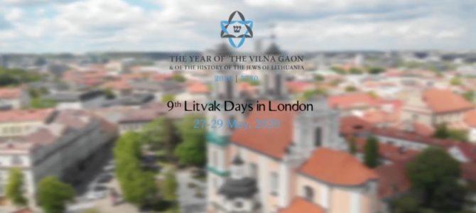 Devintosios Litvakų dienos Londone kvietė atvirai diskusijai kolektyvinės atminties klausimais