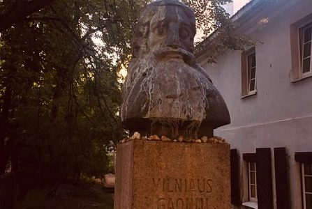 Vilna Gaon Monument Vandalized June 26