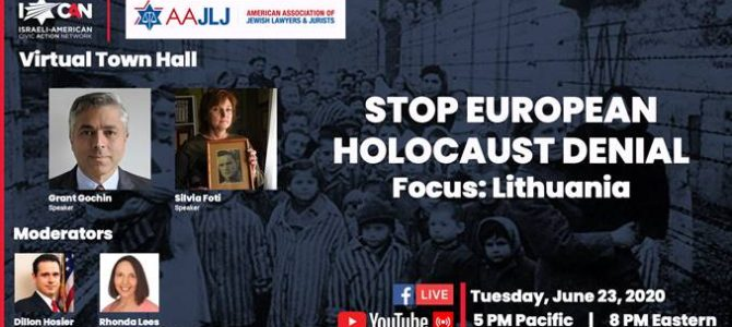 Stop European Holocaust Denial, Focus on Lithuania