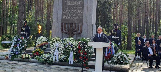 Izraelio ambasadoriaus Lietuvoje Yossi  Levy kalba Paneriuose