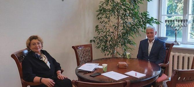 LJC Chairwoman Faina Kukliansky Meets with Klaipėda Regional Administration mayor Bronius Markauskas