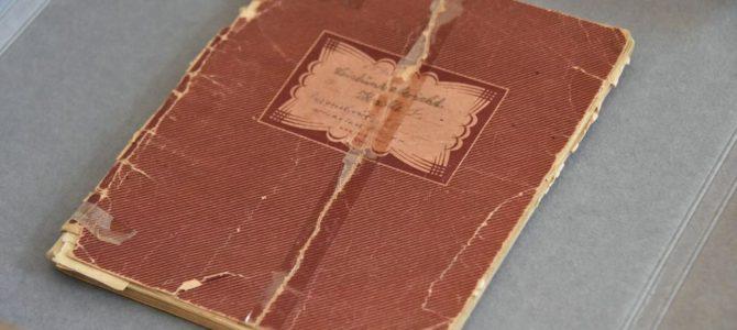 Раритетная тетрадь со стихами, написанными в Аушвице, передана в дар музею