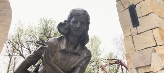 Anne Frank Statue in Boise Vandalized with Swastika Stickers