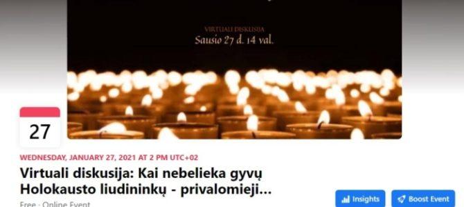 Виртуальная дискуссия, посвященная Международному Дню памяти жертв Холокоста
