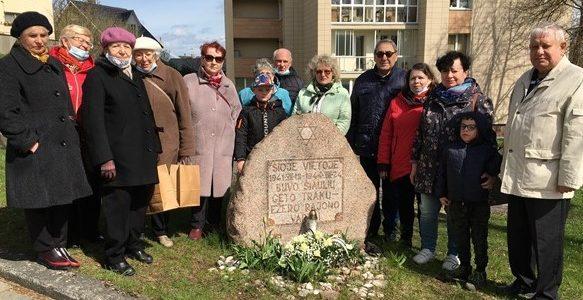 Šiauliai Regional Jewish Community Honored World War II Victims May 9