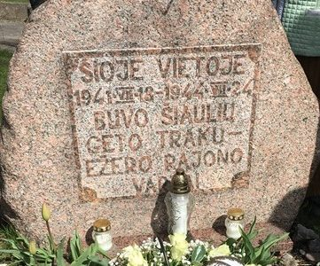 Šiauliai Regional Jewish Community Marks Day of Remembrance of Lithuanian Jewish Victims of Genocide with Several Events