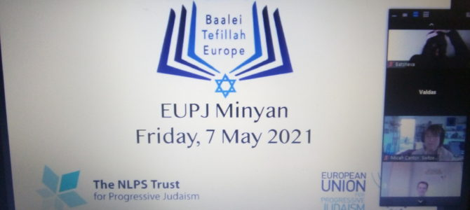 LJC Holds Virtual Sabbath with Rabbi Nathan Alfred of European Union for Progressive Judaism