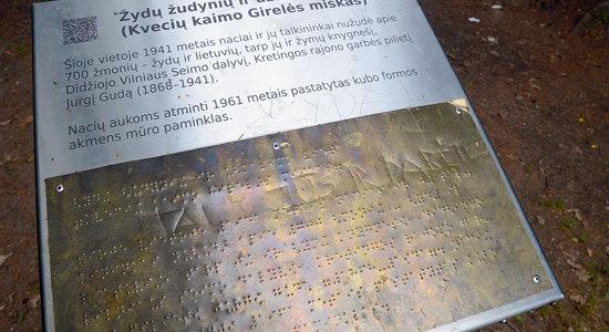 Holocaust Mass Murder Memorial Vandalized