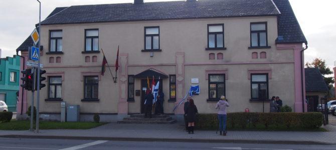 Plaque Commemorating Jewish School Unveiled in Tauragė